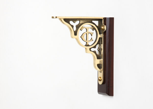 Small TC brackets in Polished Brass