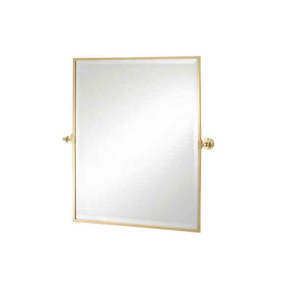 Classical Rectangle Tilt Mirror Polished Brass