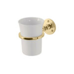 Classical Tumbler and Holder Polished Brass