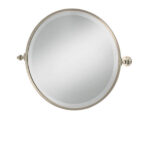 Classical Round Tilt Mirror Nickel Plated