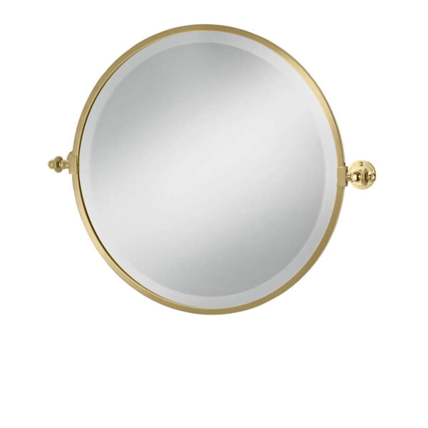 Classical Round Tilt Mirror Polished Brass