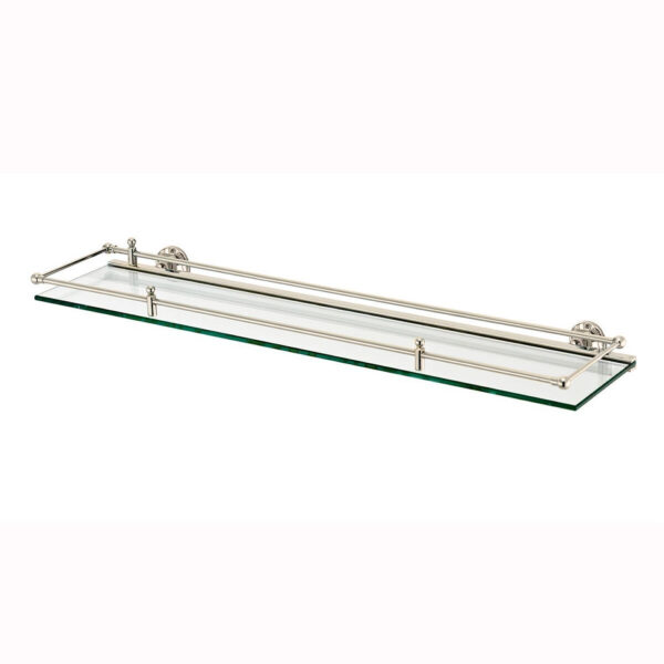 Classical Shelf Hinged Guardrail Nickel Plated