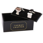 Thomas Crapper Cuff-links White