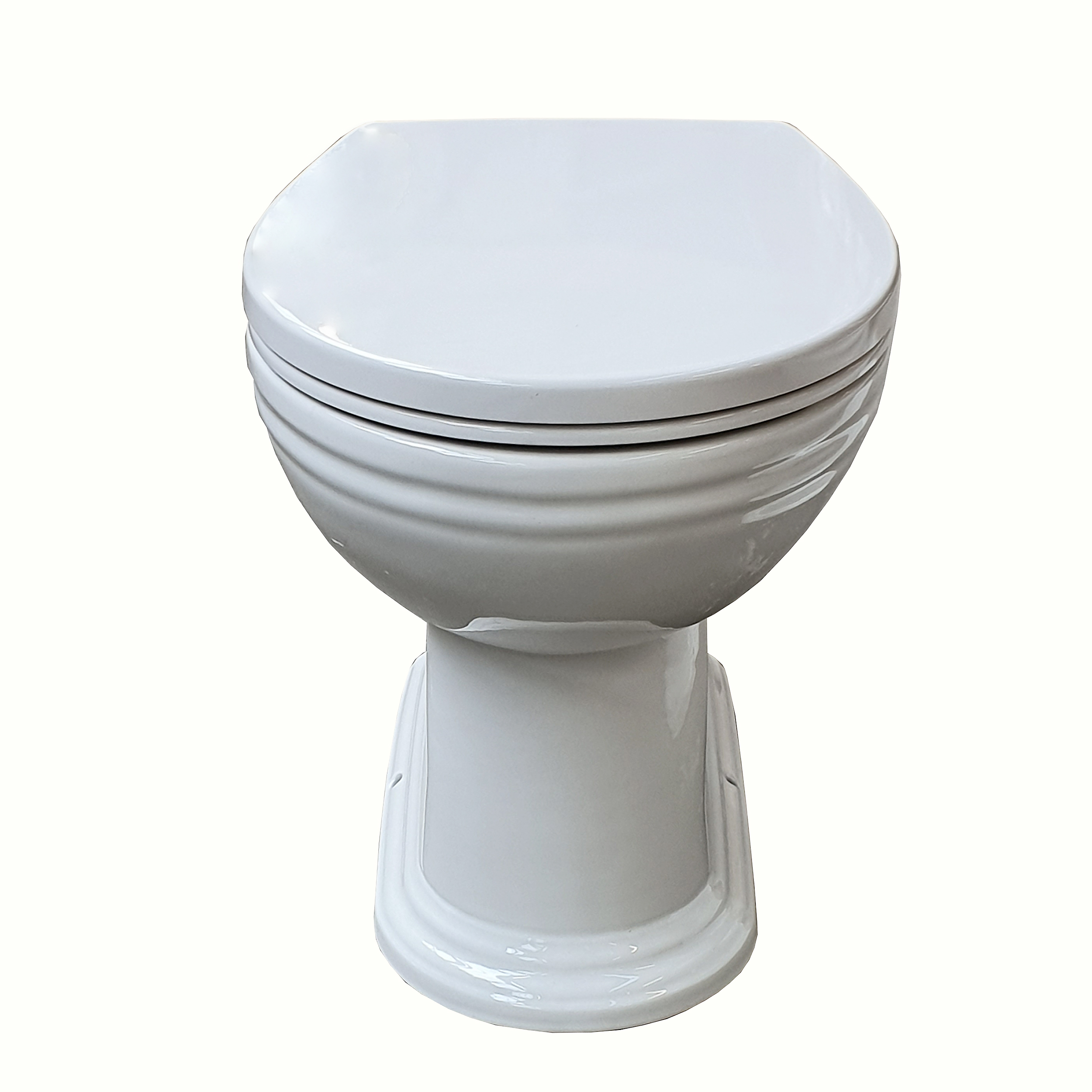 Thomas Crapper Venerable Back-to-Wall Toilet with Essentia Seat (closed)