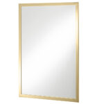 Thomas Crapper Classical Fixed Mirror Polished Brass