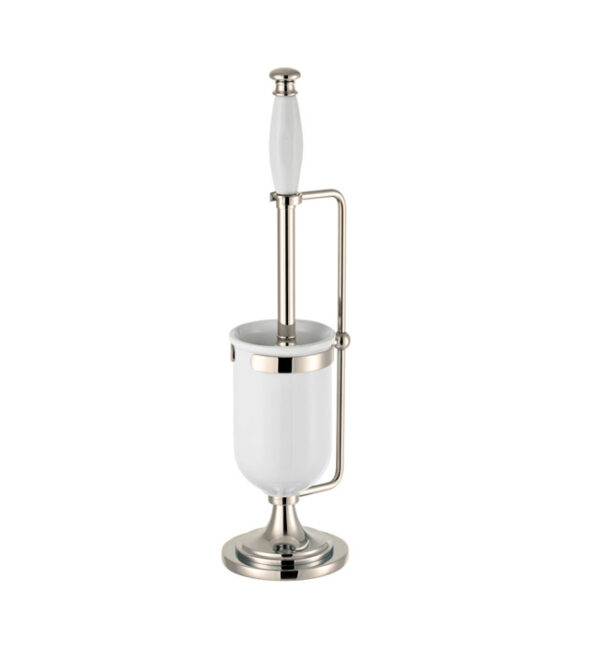 Thomas Crapper Classical Freestanding Toilet Brush Holder Nickel Plated