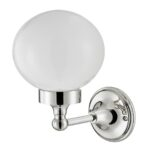 Thomas Crapper Classical Globe Wall Light Chrome Plated