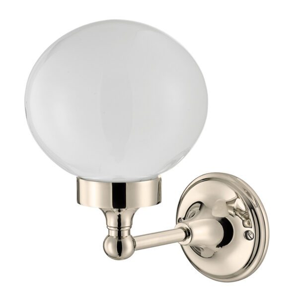 Thomas Crapper Classical Globe Wall Light Nickel Plated