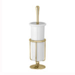 Thomas Crapper Elegant Free Standing Toilet Brush Polished Brass