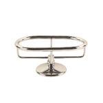 Thomas Crapper Elegant Freestanding Soap Dish Holder Nickel