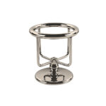 Thomas Crapper Elegant Freestanding Tumbler Holder Nickel