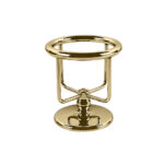 Thomas Crapper Elegant Freestanding Tumbler Holder Polished Brass