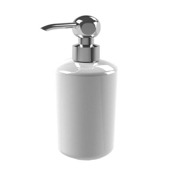 Thomas Crapper Elegant Soap Dispenser in Ceramic Chrome