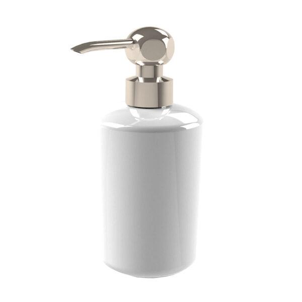 Thomas Crapper Elegant Soap Dispenser in Ceramic Nickel