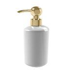 Thomas Crapper Elegant Soap Dispenser in Ceramic Polished Brass