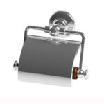 Thomas Crapper Elegant Toilet Roll Holder with Cover Chrome
