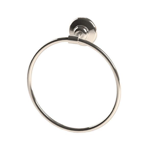 Thomas Crapper Elegant Towel Ring Nickel