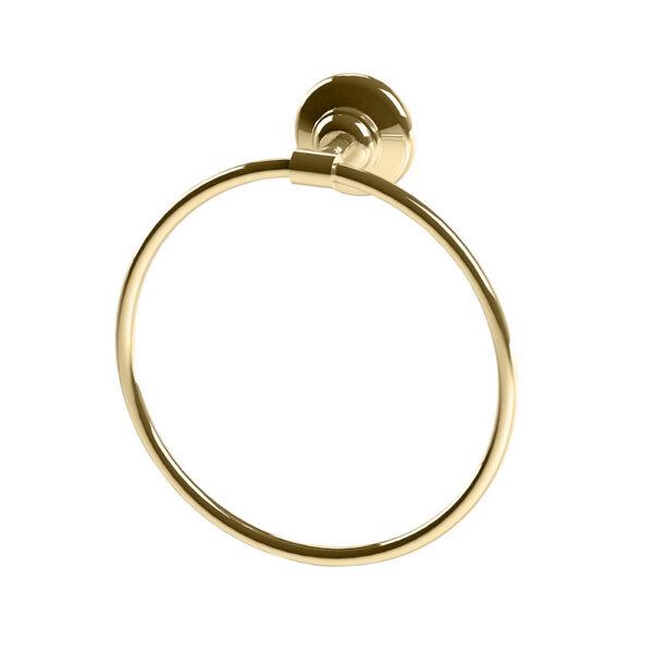 Thomas Crapper Elegant Towel Ring Polished Brass