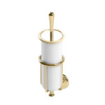 Thomas Crapper Elegant Wall Mounted Toilet Brush in Polished Brass