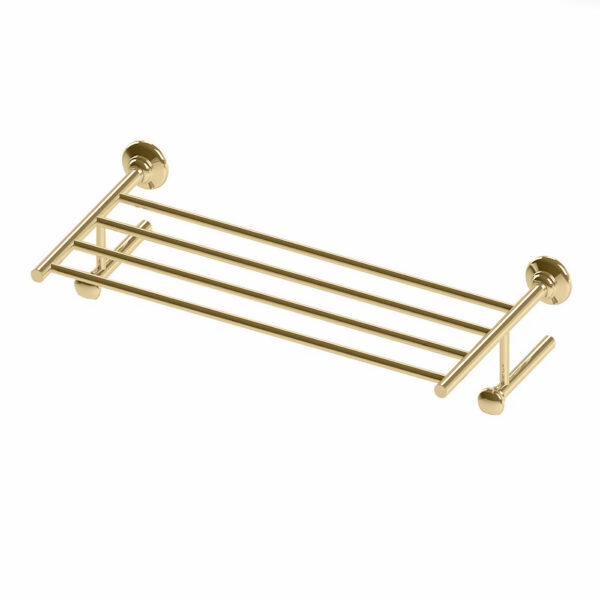 Thomas Crapper Elegant Wall Mounted Towel Holder in Polished Brass
