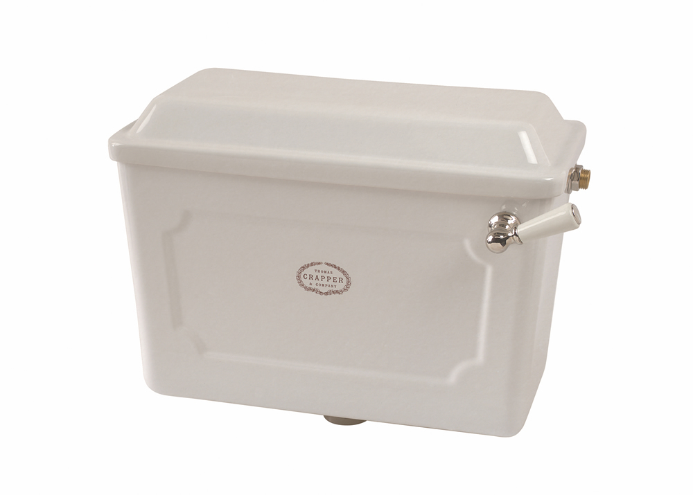Please note: This image shows a White cistern, the offer is for Antique White