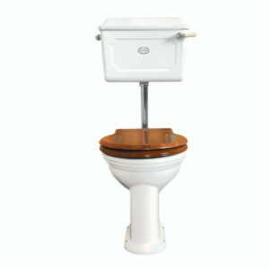 Thomas Crapper Low-level WC Set White - Chrome