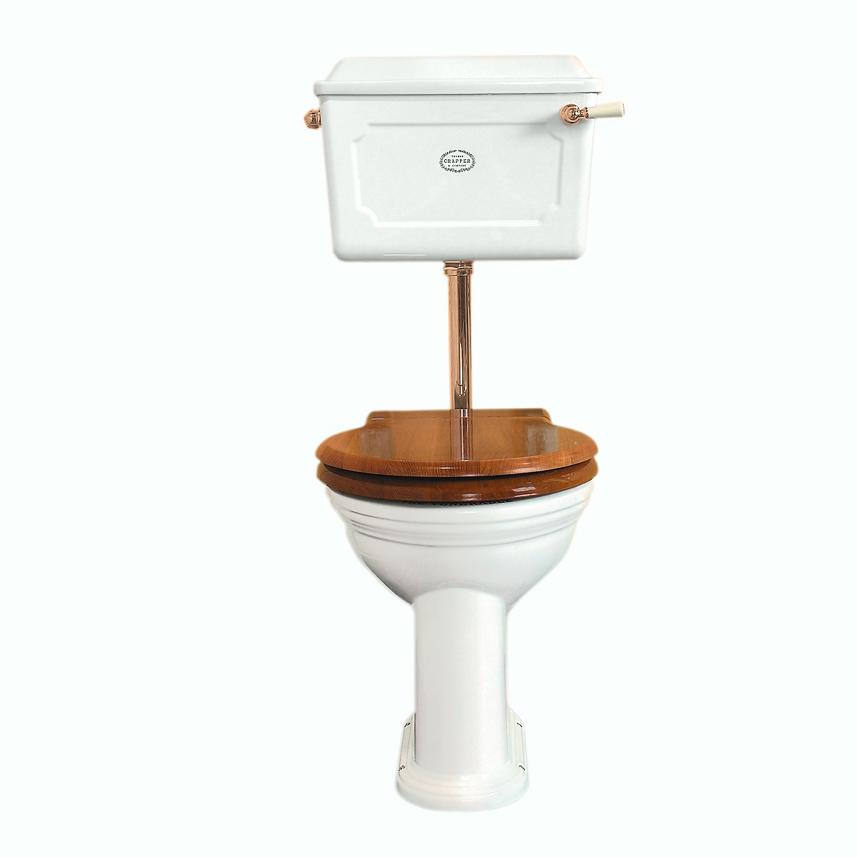 Thomas Crapper Low-level WC Set White - Polished Brass