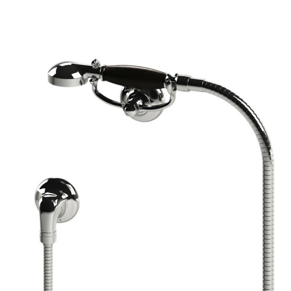 1920 Hand Shower, Wall Mounted Cradle, Hose and Wall Outlet