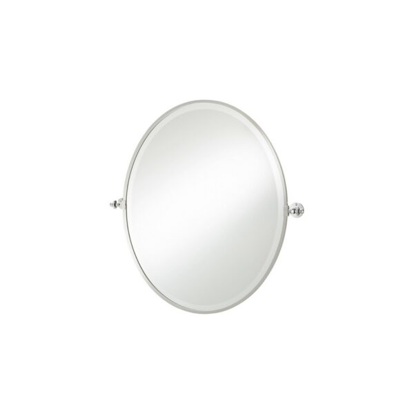 Thomas Crapper Classical Oval Tilt Mirror Chrome Plated