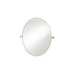 Thomas Crapper Classical Oval Tilt Mirror Nickel Plated