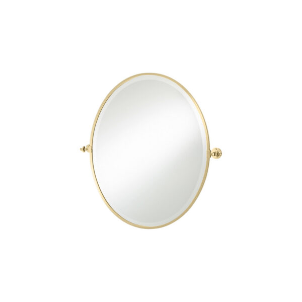 Thomas Crapper Classical Oval Tilt Mirror Polished Brass
