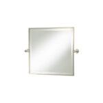 Thomas Crapper Classical Square Tilt Mirror Nickel Plated
