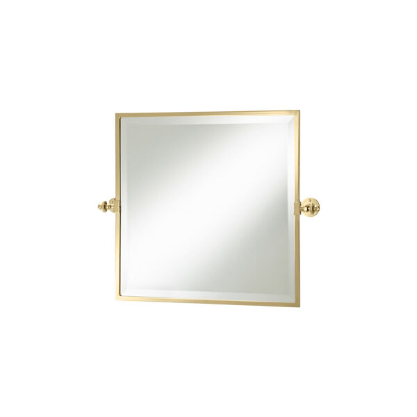 Thomas Crapper Classical Square Tilt Mirror Polished Brass