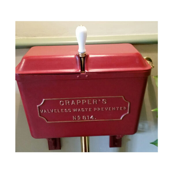 Crapper Red Low Level Cistern