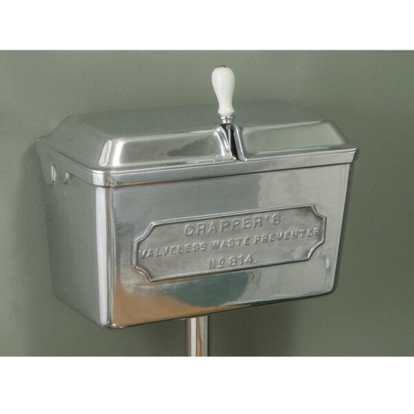 Low Level Polished Metal Cistern