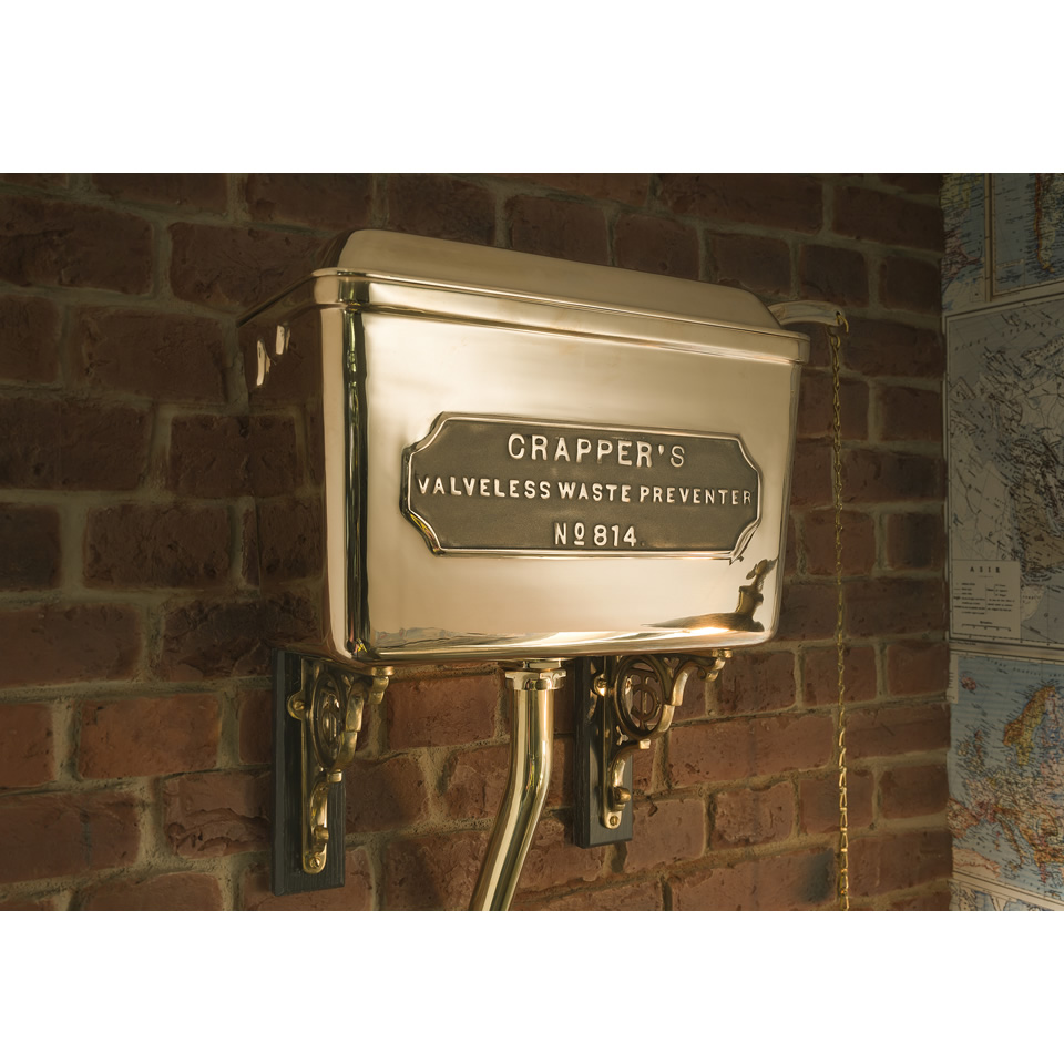Polished Brass Cistern