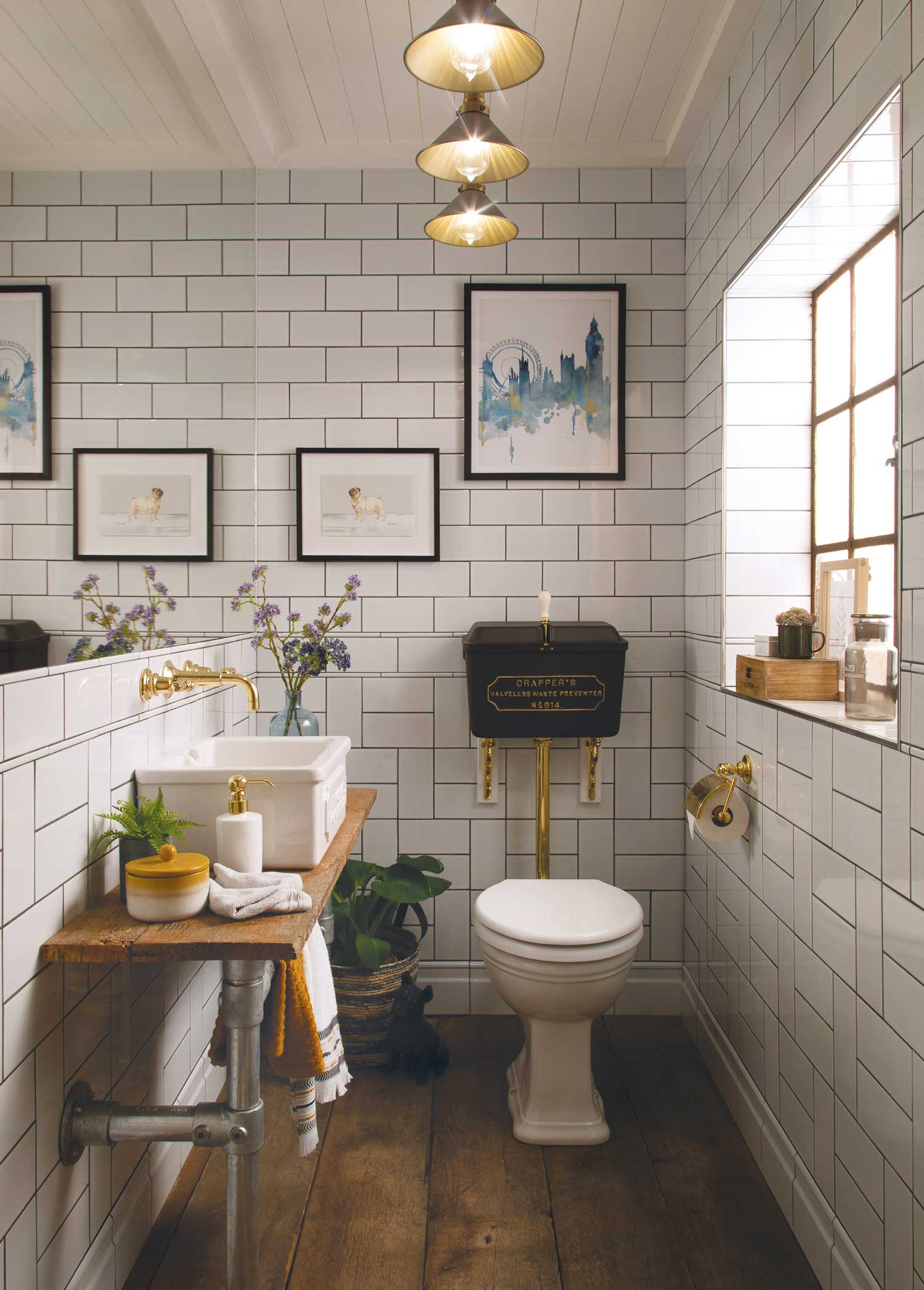 Industrial Style Cloakrooms from Thomas Crapper & Co Ltd